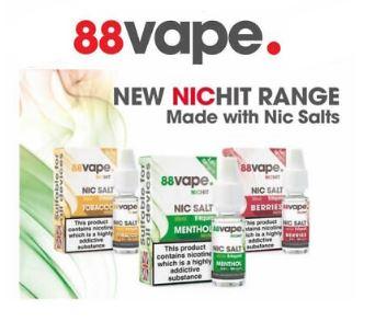 88 Vape Salts Liquid – £0.99