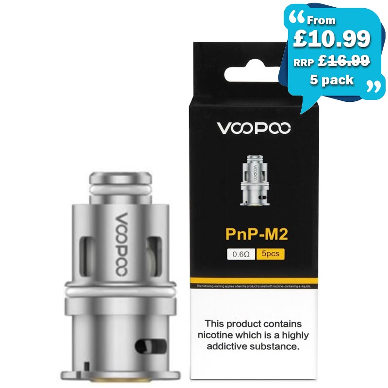 VooPoo PnP Coils x5 – £10.99