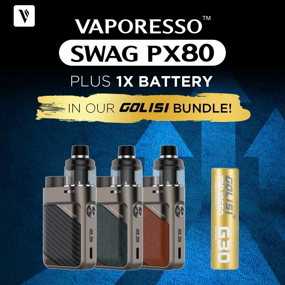 Vaporesso SWAG PX80 & Golisi G30 – £28.04