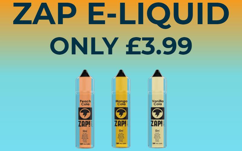 Zap! 50ml E-Liquid – £3.99