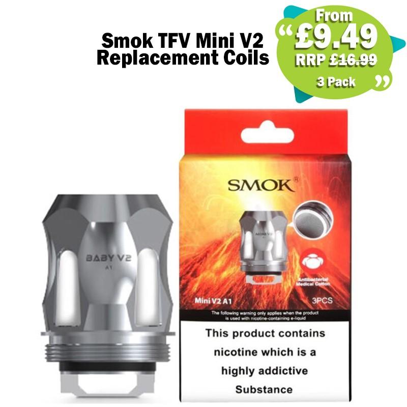 Smok TFV Mini V2 Coils x3 – £9.49