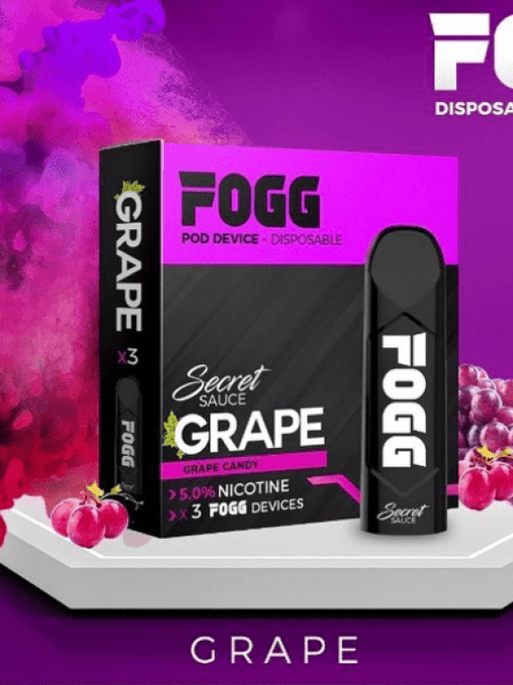 GRAPE – SECRET SAUCE DISPOSABLE POD DEVICES BY FOGG VAPE