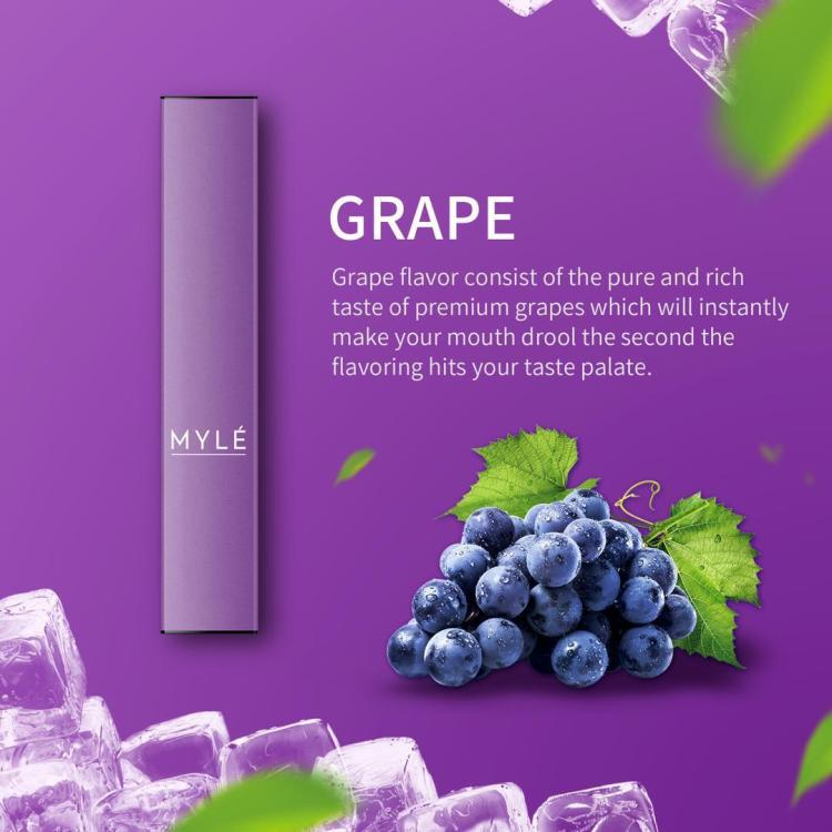 MYLE Grape Disposable Device New