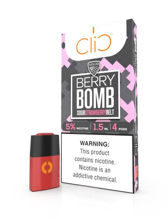 CLIC VAPOR POD: Best Vgod Berry Bomb Pod by Clic in UAE