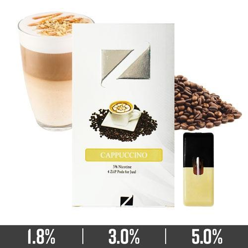 Cappuccino Ziip Pods for Juul Devices