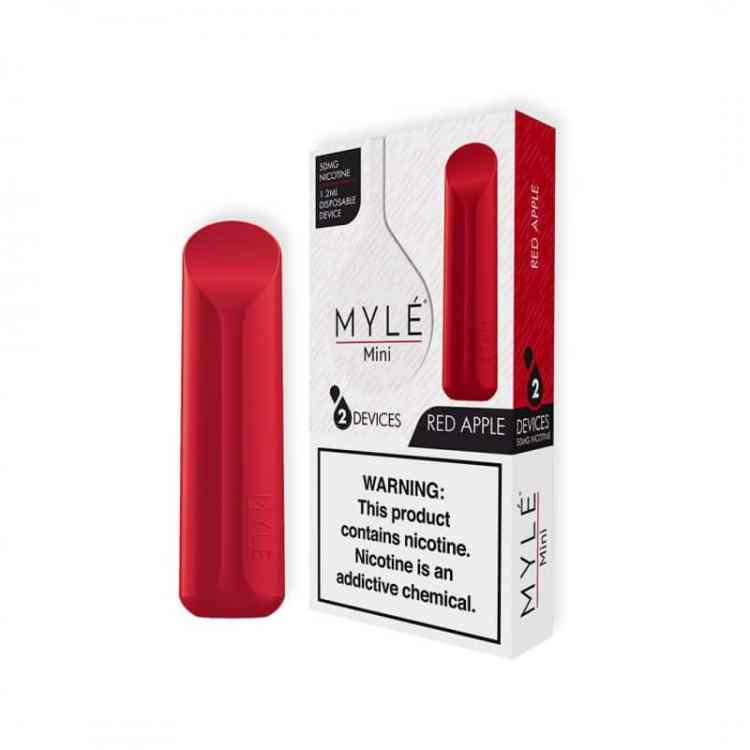Buy MYLE Mini Red Apple Disposable pods - VapeDubaiCity.com