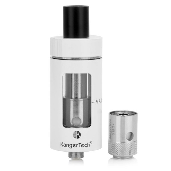 authentic-kanger-cltank-sub-ohm-tank-w-child-lock-white-stainless-steel-glass-40ml-05-ohm-22mm-diameter