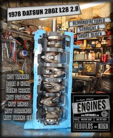78 Datsun 280Z short block engine rebuild-los angeles