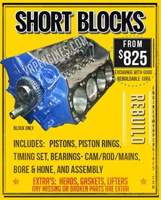 Short Block Engine Rebuild Machine Shop