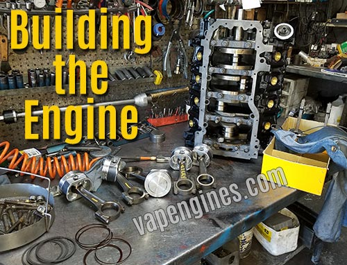 short block assembly during engine rebuild