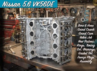 Nissan 5.6 VK56DE Engine Rebuild Machine Shop