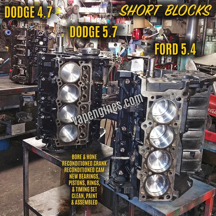 Remanufactured Short Block Engine Machine Shop