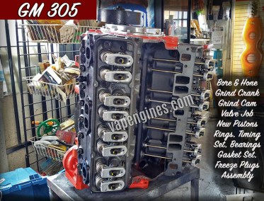 Chevy GM 305 Engine Rebuild Machine Shop