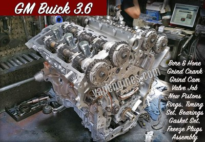 GM Buick 3.6 Engine Machine Shop