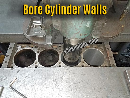 Bore Cylinder walls on engine block