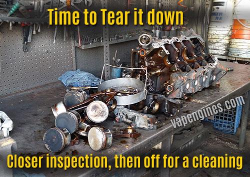 car engine teardown and inspect