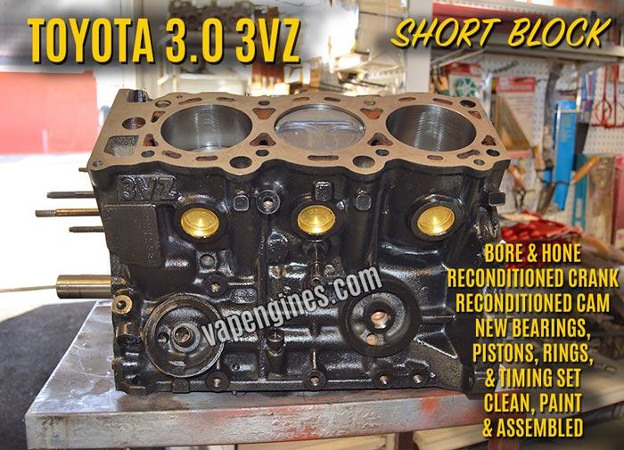 Toyota 3.0 3VZ Remanufactured Short Block Engine