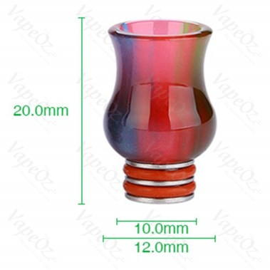 Resin Curved Drip Tip Size
