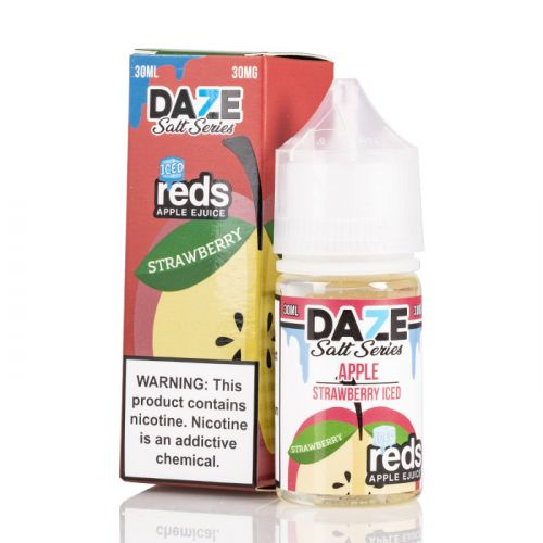 7 daze Salt reds strawberry ICED vape juice