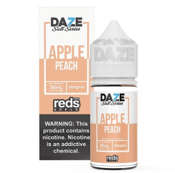 7 daze Salt reds peach vape juice