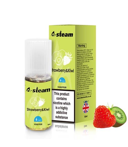 Strawberry & Kiwi 10ml E-liquid By A-steam