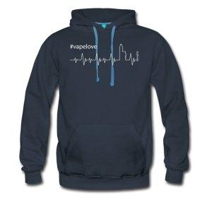 Vapelove - Dampfer T-Shirt mit Herzschlag