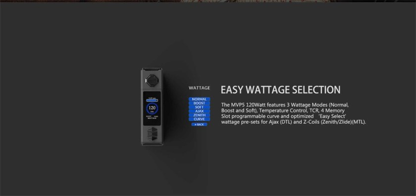 Innokin MVP5 Starter Kit 120W Easy Wattage Selection
