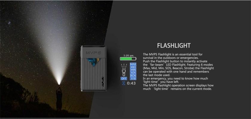 Innokin MVP5 Starter Kit 120W Flashlight