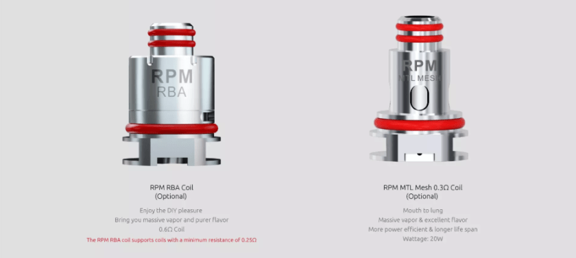 SMOK RPM RBA Coil Introduction