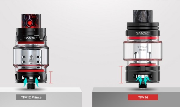 tfv16 sub ohm tank with higher base