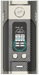 new wismec reuleaux rx300 tc box mod-carbon fiber