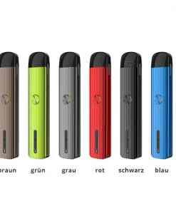 Uwell Caliburn G in allen 6 Farben Braun, Grün, Grau, Rot, Schwarz und Blau