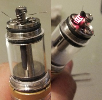 I used 28awg kanthal, 5 wraps on a 400 mesh straw.