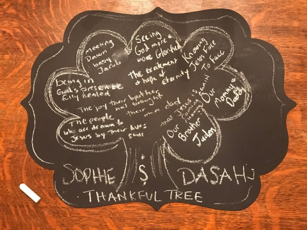 Sophie and Dasah's Thankful Tree