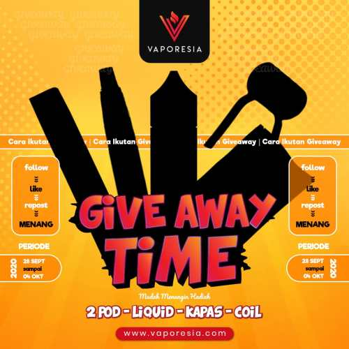 Give Away Vaporesia September-Oktober