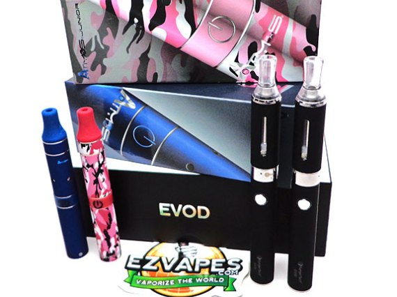 The Kanger EVOD next to the Atmos Junior in the new pink camo color!