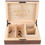 8 x 11 Ryot Walnut Lockable Storage Box with 4 x 7 Sifter