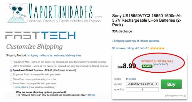 fasttech express envio