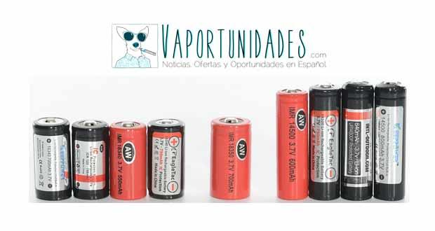 comparativa baterias 18350