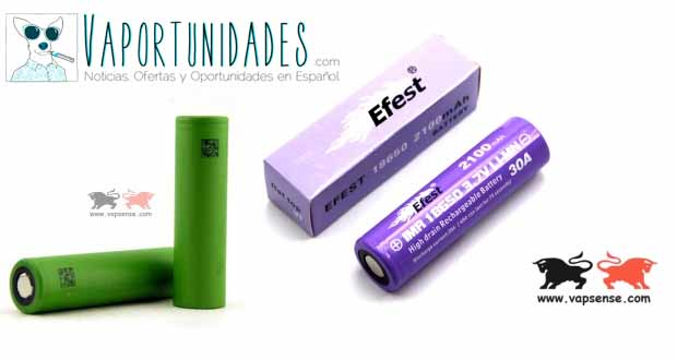 baterias 30a efest sony purple vapsense