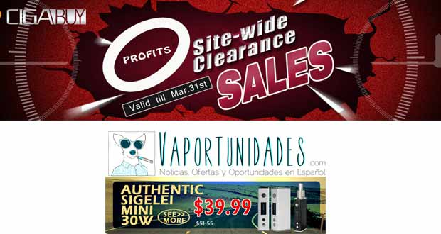 ofertas, cigarrillos electronicos, ecigs, vapeo, cigabuy