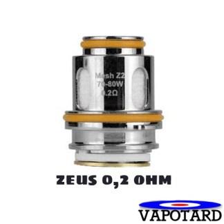 Résistance coil ZEUS GEEKVAPE 0.2 ohmpour Clearomiseur Pas cher parmi les meilleurs du marché, fabriqué par GEEVAPE, VENTE à L'unité