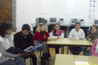 Förderunterricht mit der Mediatorin der Schule
