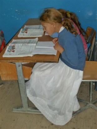 Romamädchen in der Grundschule