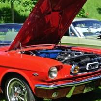 Mustang 1966 på utställning i Karlsborg