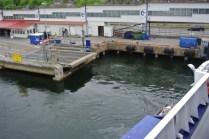 Ferry leaving dock