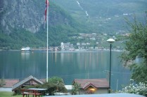 Geiranger dock view from our cabins