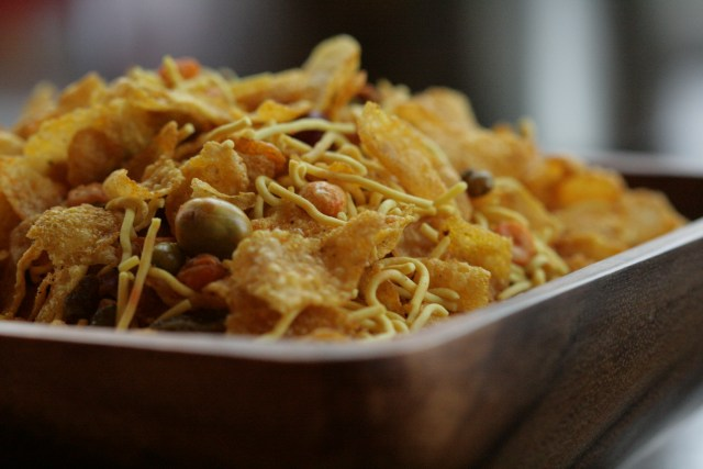 Cornflakes, crunchy lentils, raisins and nuts - what's not to like