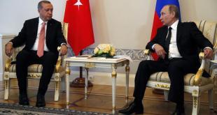 Recep Tayyip Erdogan Tyrklandsforseti og Vladimír Pútín Rússlandsforseti í St. Pétursborg 9. ágúst 2016.