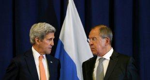 John Kerry og Sergei Lavrov.